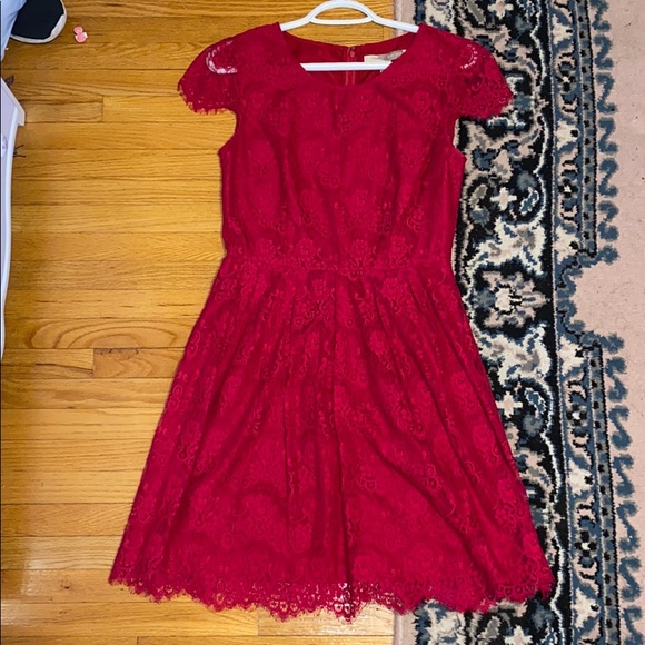 GENTLY USED Forever 21 Red Lace Dress